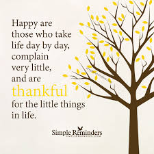 be thankful for the little things by unknown author a day in