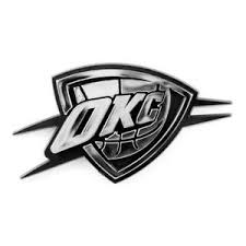 Oklahoma City Thunder Silver Auto Emblem New Car Decal Sticker Nba Plastic Ebay
