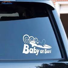 Black Silver Funny Baby On Board Surf Sticker Car Vinyl Auto Car Body Window Fashion Decals C478 Car Stickers Aliexpress