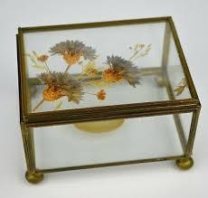 dried flower beveled glass keepsake