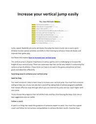 increase your vertical jump easily