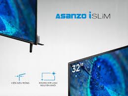 Smart Voice Tivi Asanzo 32 inch ISLIM - Model 32SL500 (HD Ready, Android  8.0, Tìm Kiếm Giọng Nói, Kết Nối Điện Thoại, Viền Kim Loại, Không Lỗi  Youtube) - Bảo Hành 2 Năm