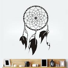 Feathers Wall Decals Indian Dream Catcher Adhesive Vinyl Wall Stickers Home Decor Bedroom Removable Vinyl Stickers Wall Vinyl Tree Wall Decals From Onlinegame 11 04 Dhgate Com