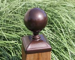 6x6 Fence Post Cap For Wood Post Large 5 Cannonball Gate Post Caps Madison Iron And Wood