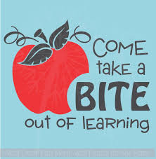 Take A Bite Out Of Learning With Apple Wall Vinyl Decals Sticker Classroom Art Quote 2