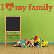 I Love My Family Wall Decal Style And Apply
