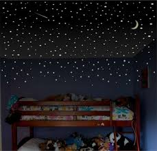 Boys Room Wall Decal Glow Stars Childrens Decal Toddler Etsy