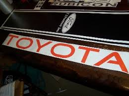 Toyota Windshield Decal