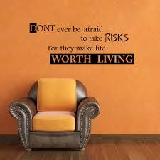 medium risks make life worth living wall decal quotes