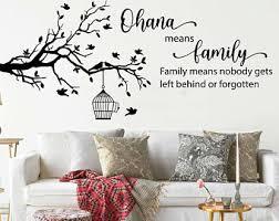 Ohana Means Family Wall Decal Etsy