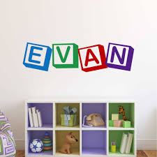 Playroom Wall Decal Alphabet Blocks Custom Name Lettering