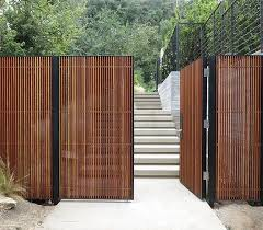 Mid Century Modern Wood Entry Gate Modern Fence Design Wood Fence Design Fence Design