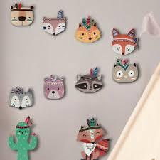 Animal Cartoon Wooden Stickers Wall Hanging Art Bedroom Kids Room Nursery Decor Ebay