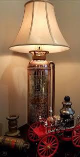 antique fire extinguisher lamp copper