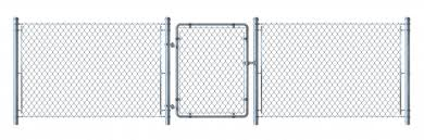 Premium Vector Realistic Metal Wire Fence And Gate Detailed Illustration Isolated On White Background