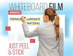 Self Adhesive Whiteboard Wall Sticker 24 X 48 Etsy