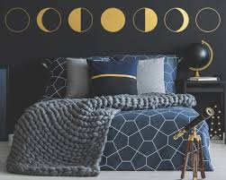 Moon Phases Wall Decal Phases Of The Moon Decor Celestial Etsy