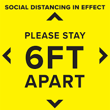 Social Distancing Floor Decal Non Slip Self Adhesive Decal