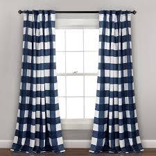 Lush Decor 2 Pack Kelly Checker Kids Room Darkening Window Curtains 52 X 84