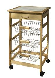 organize it all kitchen cart with 3