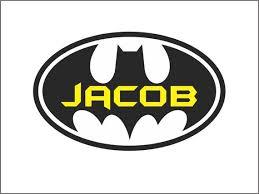 Batman Wall Decal Boy Name Bedroom Vinyl Lettering Decor Etsy