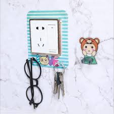 Cute Cartoon In The Dark Light Wall Decal Cartoon Switch Pvc Sticker Switch Cover Protector With 3 Storage Hook Buy Cute Cartoon In The Dark Light Wall Decal Cartoon Switch Pvc