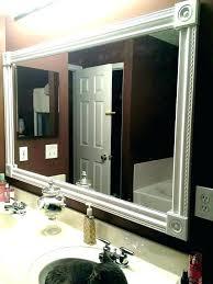 white bathroom mirror frame mirrors
