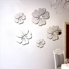 Amazon Com Toifucos Mirror Wall Sticker Hibiscus Flower Mirror Wall Decals Removable Diy 3d Mirrors Wall Decal Acrylic For Living Room Kids Bedroom Decorative Gift 5pcs Home Kitchen