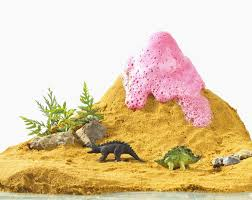 how to make a clay volcano