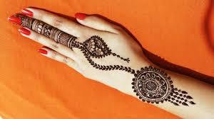 back mehndi design simple circle