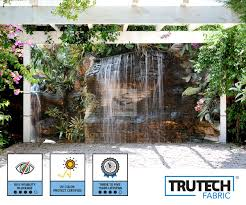 Tropical Garden Waterfall Patio Gazebo Screen