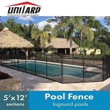 China Customized Removable Pool Fence Inground Swimming Pool Safety Mesh Barriers China Removable Pool Fence Inground Swimming Pool Safety Barriers