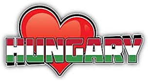 5 Or 6 3 Hungary Grunge Mouth Flag Car Bumper Sticker Decal