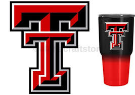 Texas Tech Red Raiders 3 Premium Vinyl Decal For Tumbler Etsy