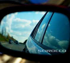 vw scirocco wing mirror etched glass