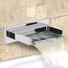 wall mounted waterfall tub faucet