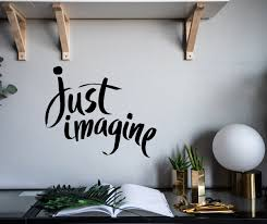 Wall Decal Just Imagine Inspirational Motivational Vinyl Decor Z4922 Wallstickers4you