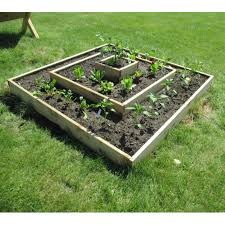 cedar multi level raised garden bed kit