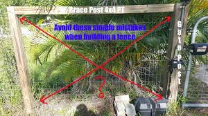 Avoid These Simple Mistakes When Building A Welded Wire Fence With Or Without A Gate Easy Fence Natural Fence Farm Fence