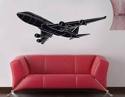 Boeing 747 Airplane Decal Wall Sticker Home Decor Art All Colors Sizes St59 Ebay