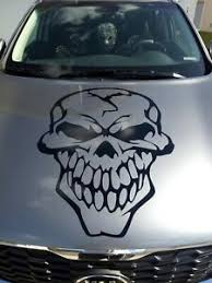 Skull Hood Decal Large 36 Auto Graphic Vinyl Sticker V2 Big Bone Gun Truck Car Ebay