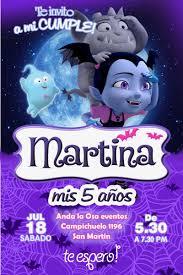 Tarjetas Invitaciones Cumpleanos Vampirina X10uni 60 00 En