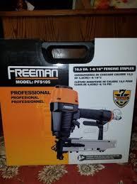 Freeman Pfs105 Pneumatic 10 5 Gauge 1 9 16 Fencing Stapler With Case Walmart Com Walmart Com