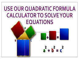 quadratic formula calculator to solve
