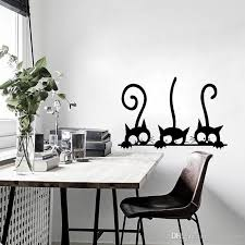 Lovely Three Black Cat Diy Wall Stickers Animal Room Decoration Personality Vinyl Wall Decals 20 30 Cm 3 Decals On Walls Decals Stickers From Joystickers 8 96 Dhgate Com