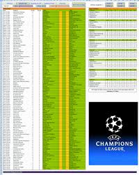 Excel Templates: 2014-15 UEFA Champions League schedule spreadsheet