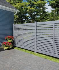 Bufftech Breezewood Select Cedar Simi Private Vinyl Fence Liw Rail And Fence Llc