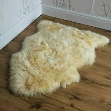 baby sheep skin rug real australian