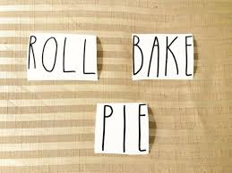 Pie Bake Roll Word Decal Canister Storage Decal Diy Home Decor Holiday Gift Sale Ebay