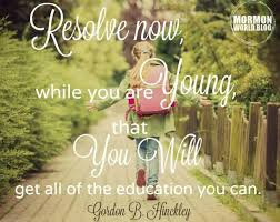 resolve now while you are young that latter day array